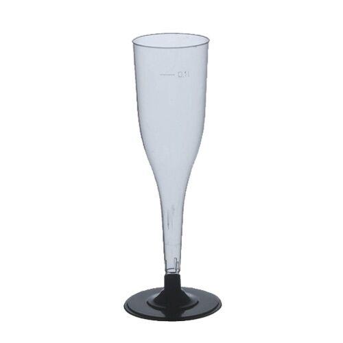 108 glasklare Sekt Stielgläser PS 0,1 l Ø 5cm 17,5 Party Sektflöten Einweggläser