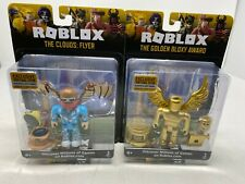 Details About Roblox Celebrity Figure 2 Pack The Clouds Flyer And The Golden Bloxy Award Celebrity Collection Celebrity Collection The Clouds Flyer The Golden Bloxy For Sale Online
