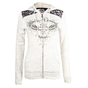 Harley-Davidson® Women's Lace Accent Off-White Hoodie 99151-16VW