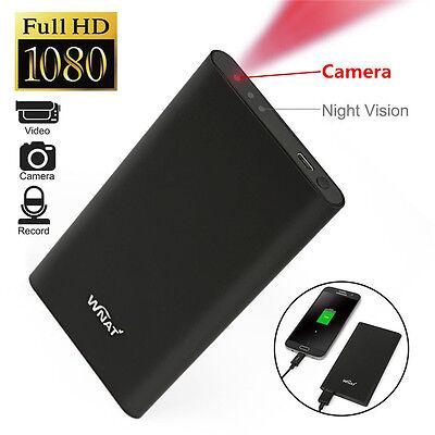 Mini HD 1080P DVR Hidden SPY Camera Power Bank Night Vision Video Recorder Cam