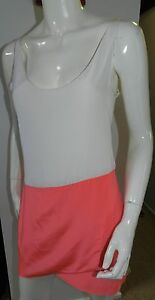 Anna-amp-Boy-RRP-335-silk-summer-pink-fluoro-and-white-2-tone-dress-BNWT-size-2