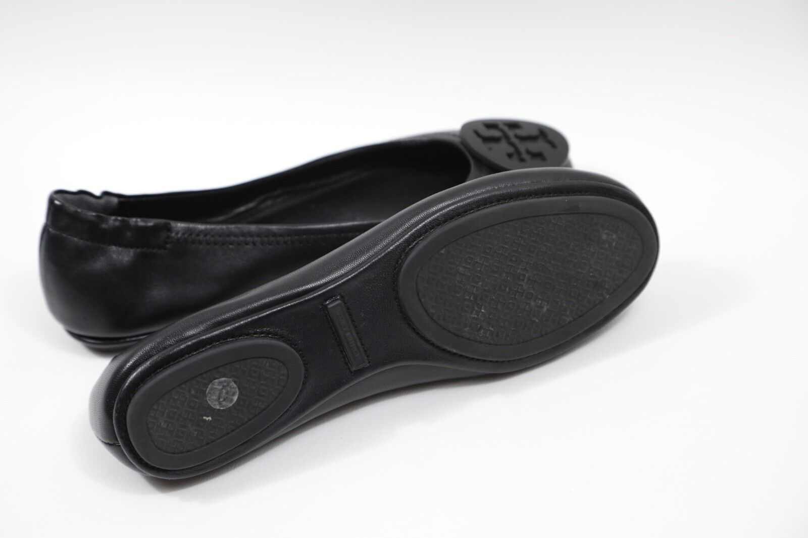 Tory Burch Minnie bLACK Travel Ballet Flats Dimensione 8 M    228 RETAIL dc5a5e