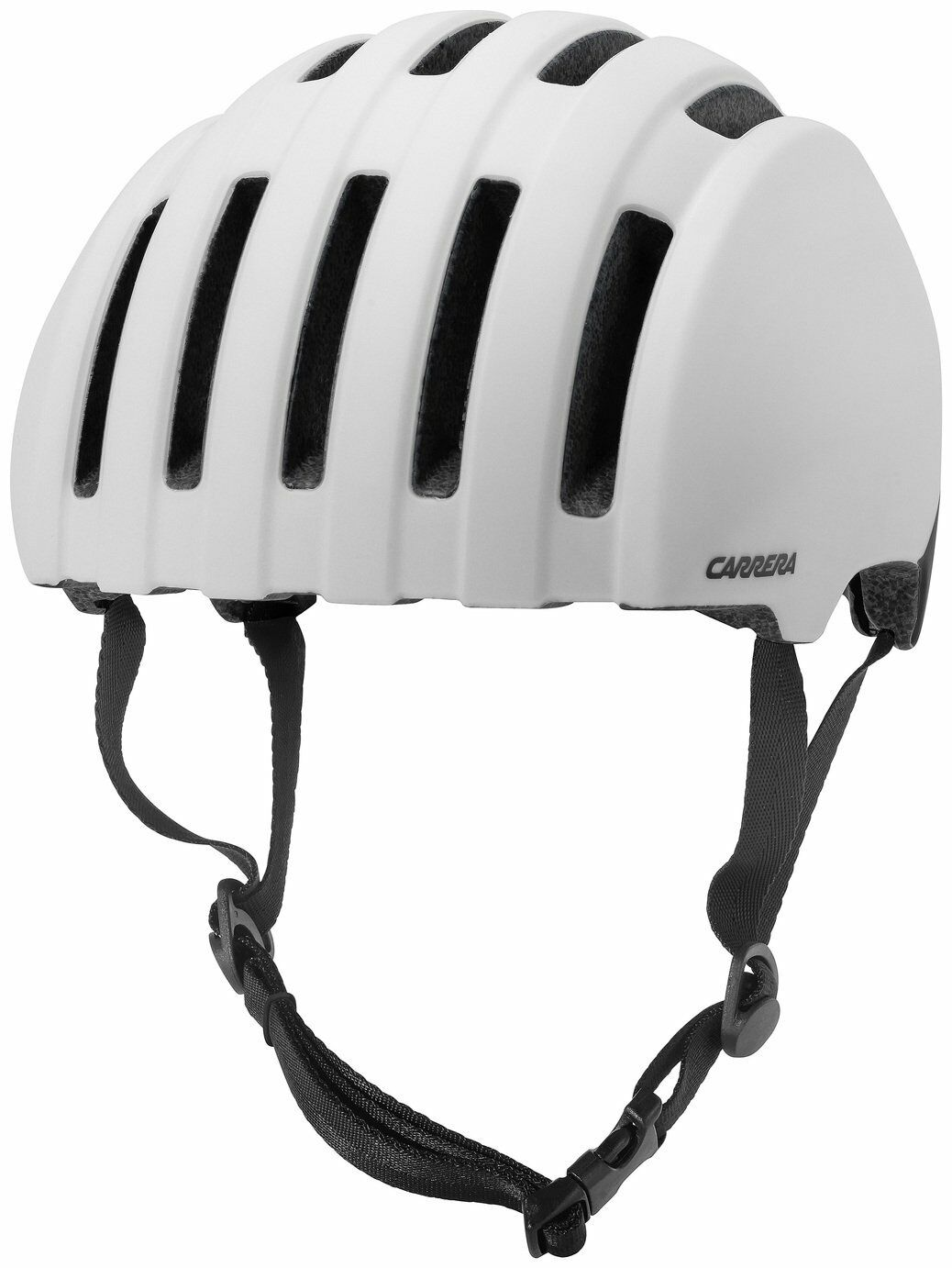Carrera Precinct Foam Padded Adjustable 55-58cm Helmet - Shiny White.