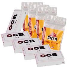 OCB ® Weiss Zigarettenpapier 5x 100 Blättchen & 4x 120 GIZEH Slim Filter