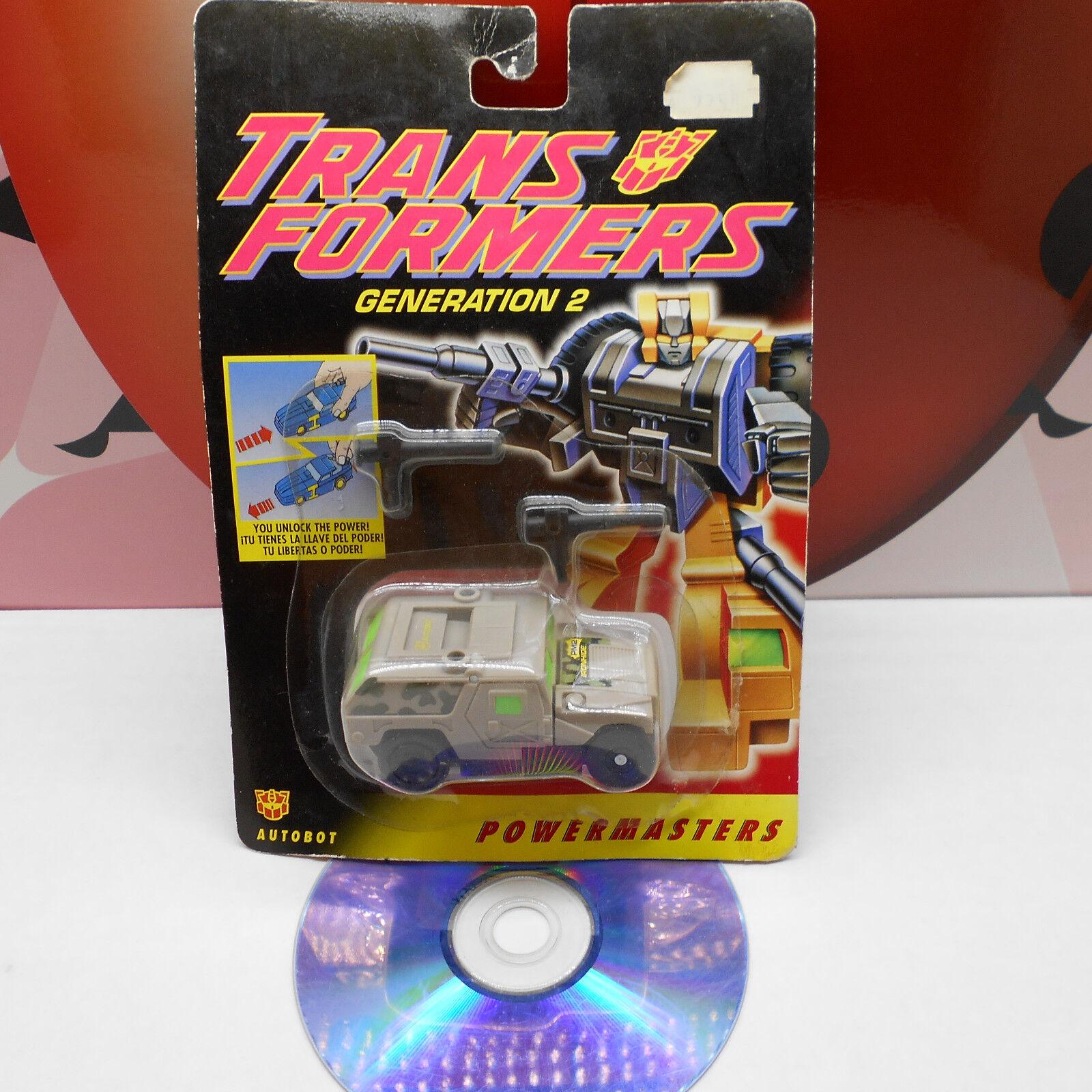 Transformers G2 IRONHIDE AUTOBOT ROBOT powermasters Figura de Acción 1994 Hasbro casi como nuevo