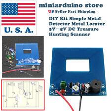 DIY Kit Simple Metal Detector Metal Locator 3V-5V DC Treasure Hunting Scanner US