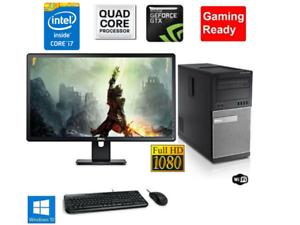 Fortnite-Gaming-PC-Desktop-Computer-i7-16GB-180GB-SSD-RX560-Win10-WIFI-Monitor