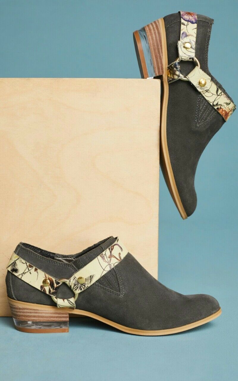 Anthropologie Floral Harness Stiefelie Shootie Suede Suede Suede Größe 8.5   158 7e8f94