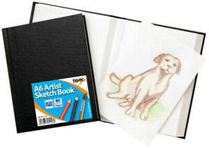 A6-noir-rigide-Croquis-Dessin-Livre-de-Poche-Journal-emboite-80-page-110gsm