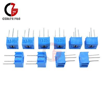 50Pcs 3362P-101 3362 P 100 ohms High Precision Variable Résistance Potentiomètre