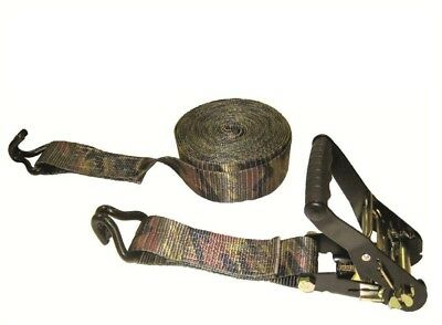 16 Ft X 2 In X 10000 Lbs Padded Camo Heavy Duty Ratchet Tie Down Double J Hooks 51643836167 Ebay