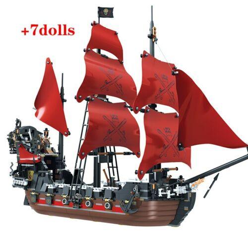 Quality Pearl Ship Queen Anne/'s Revenge Pirates Caribbean Bricks 1207pcs