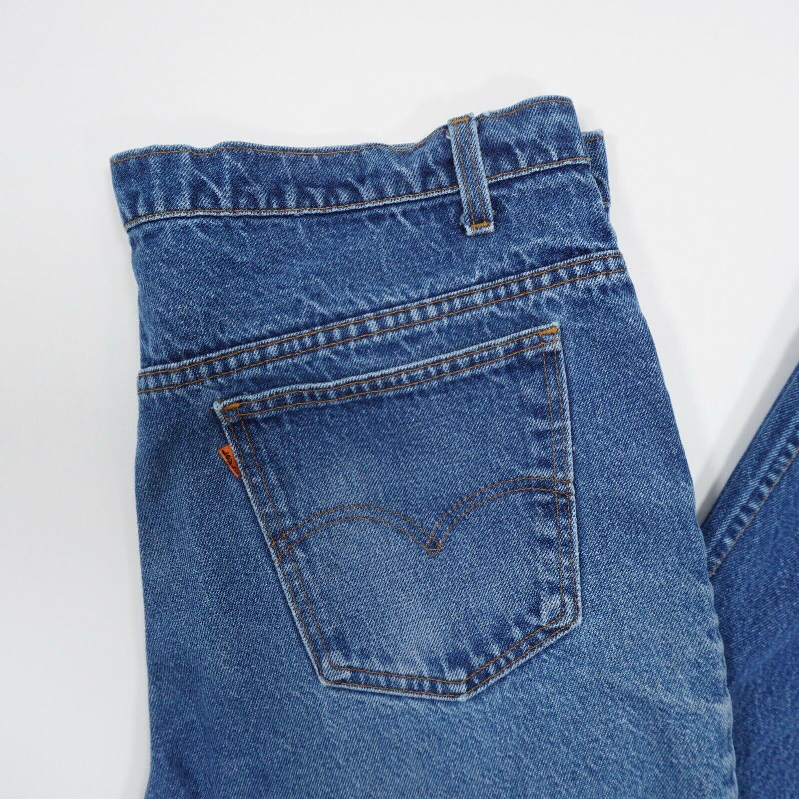 Vintage 90s Levis 517 Mens 36X30 Blue Faded Distr… - image 4