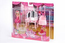 Barbie in the Pink Shoes Pink Vanity Furniture Set Boxed BNIB Kristyn