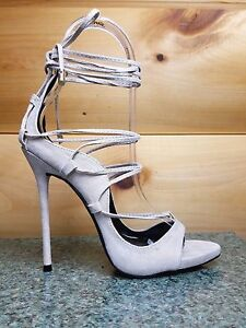 690d984a658 So Me Mista Demon Strappy Lace Up High Heel Shoe 5.5-10 Nude Fx ...