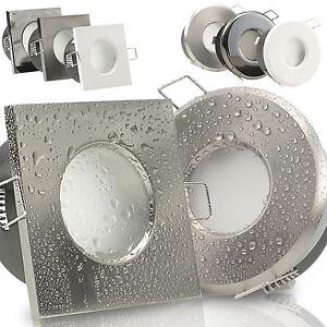 einbaustrahler 50mm flach bad led feuchtraum ip65 230v. Black Bedroom Furniture Sets. Home Design Ideas