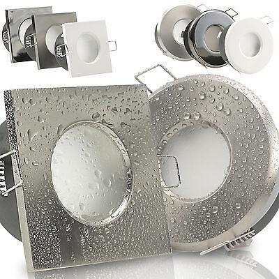 Nassraum GU10 Einbaustrahler LED Bad Dusche IP65 230V 1W=15W Außen Innen AQUA