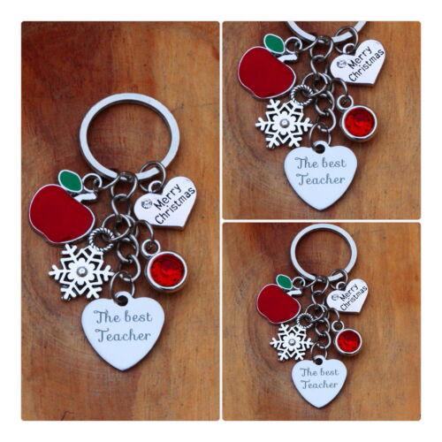 TEACHER,TEACHING ASSISTANT Christmas Gift Keyring NURSERY TEACHER //XMAS Gift