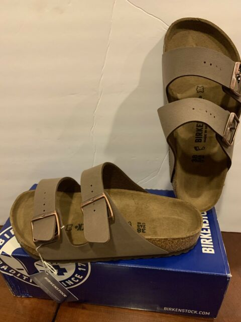 New Birkenstock's EU 39 Arizona Mocca Regular Fit With Footbed US Ladies 7