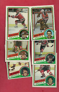 1984-85-TOPPS-NJ-DEVILS-CARD-LOT