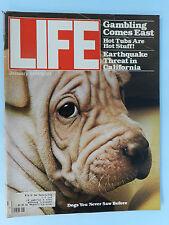LIFE MAGAZINE JAN 1979 ISSUE~GAMBLING COMES EAST~HOT TUBS~ EARTHQUAKE THREAT CAL