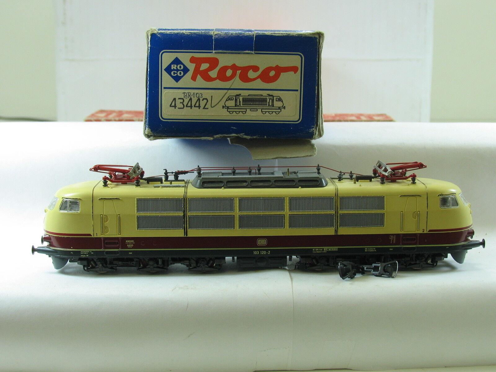 clásico atemporal Roco h0 43442 e-Lok 103 120-2 120-2 120-2 DB embalaje original (y1872)  Con 100% de calidad y servicio de% 100.