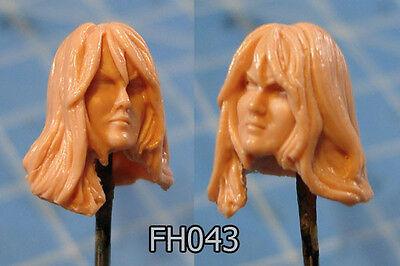 "FH044 Custom Cast Sculpt part Female head cast for use with 3.75/"" action figures"