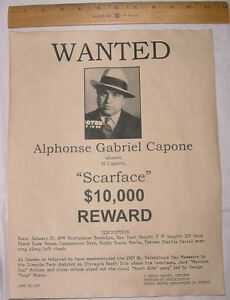 9d4227a5a71 Image is loading BIG-11-x-14-Al-Capone-Wanted-Poster-