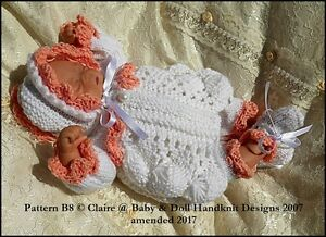 fe6551f8b BABYDOLL HANDKNIT DESIGNS KNITTING PATTERN COCKLE SHELL DRESS SET B8 ...