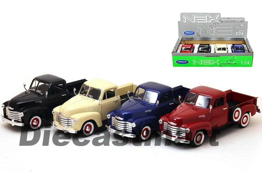 WELLY 22087 1953 CHEVROLET 3100 PICK UP TRUCK 1//24-1//27 DIECAST MODEL BLUE