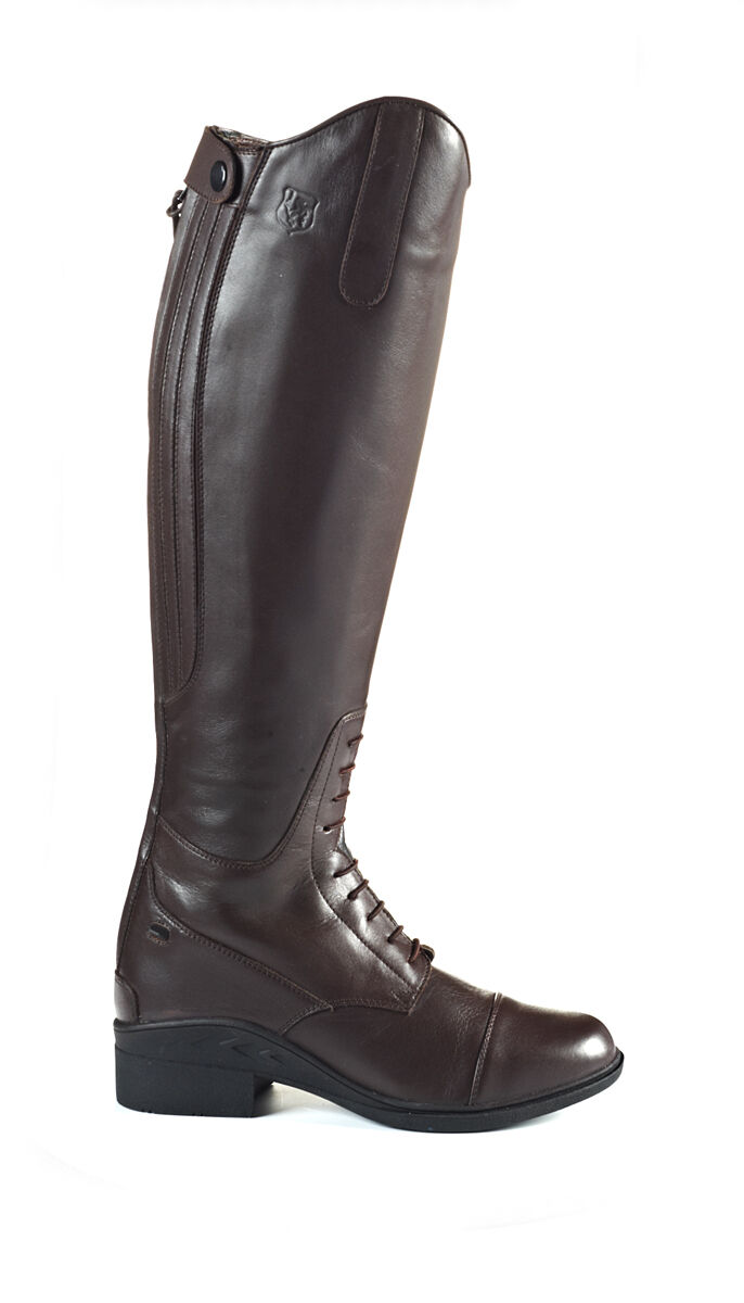 Just Togs Togs JTE NEBRASKA Leather Long CAMPO DI EQUITAZIONE avvio, Cerniera Marroneee, Nero  marchi di stilisti economici