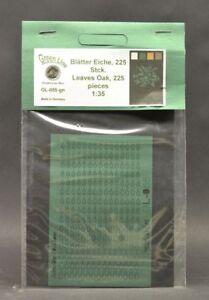 GreenLine-GL-055-Oak-leaves-225-pcs-laser-cut-paper-1-35-diorama-scenery