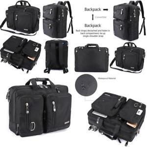 Details about Freebiz Laptop Backpack Messenger Bag Hybrid Briefcase Backpack Vintage Bookbag