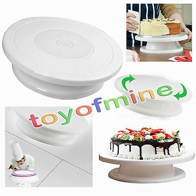 28cm Cake Decorating Turntable Rotating Revolving Icing Kitchen Display Stand