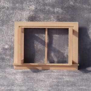 1 12 Dollhouse Miniature DIY Fitment Wooden Square Housework Mini Windows N K6G8