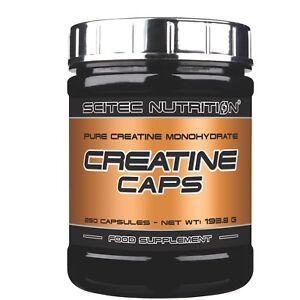 Scitec Nutrition Creatine Caps 100 Creatina Monoidrato Integratore Palestra 250 Capsule