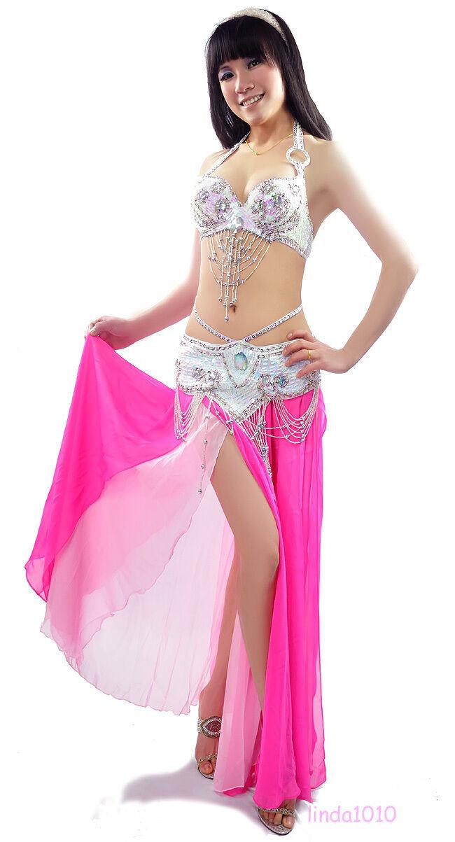 C91816 Bollywood Profi Profi Bauchtanz Kostüm 2 Teile Teile Teile BH Gürtel Vernus 8c1ddd
