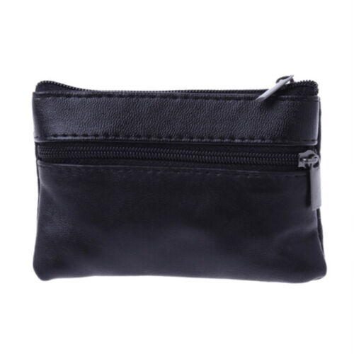 Solid Color Coin Purse ID Credit Card Pouch Key Money Charge Wallet Bag N7