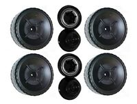 Power Wheels W9257 Boss Mustang Replacement Left & Right Wheels- 4 Pack