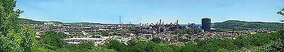 (17,55€/m²) Faller 180510 H0, TT, N,  Hintergrund Industriegebiet, 2700 x 400 mm