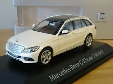 MERCEDES-BENZ C-KLASSE S205 T-MODELL DIAMANTSILVER 1:18 NOREV DEALER VERY RARE