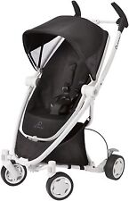 Quinny Zapp Xtra Folding Seat Stroller in Black Irony with White Frame!! New!!