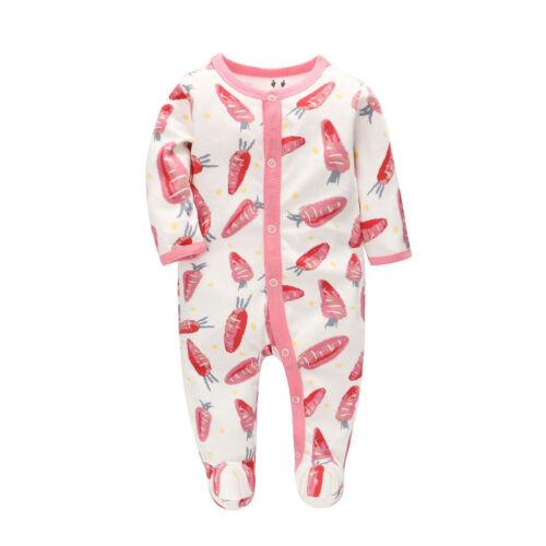 Newborn Infant Baby Girls Boys Cartoon Animal Romper Jumpsuit Outfits Playsuit C