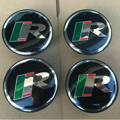 4Pcs R Emblem Alloy Car Wheel Center Hub Caps Badge 58MM Fit For JAGUAR XF XFRXJ
