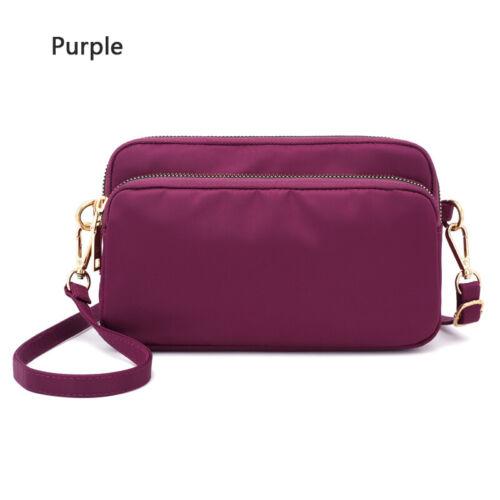Women Multi Compartment Purse Small Nylon Crossbody Messenger Shoulder Bag Lady