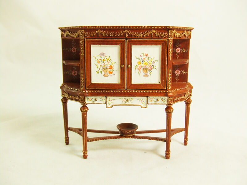 Hansson Miniature 1:12 -Walnut Louis XVI Saint Anne Buffet / French Cabinet