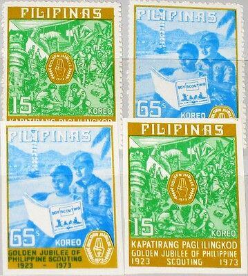 Briefmarken Schneidig Philippines Philippines 1973 1089-90 A-b 1221-1222a Boy Scouts Pfadfinder Mnh Gute Begleiter FüR Kinder Sowie Erwachsene