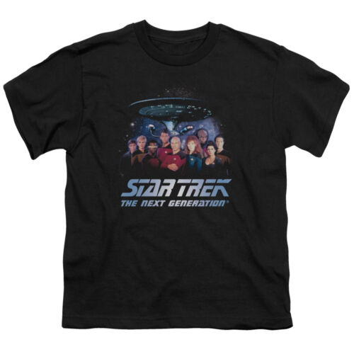 Star Trek Next Generation TNG Cast SPACE GROUP BOYS /& GIRLS T-Shirt S-XL