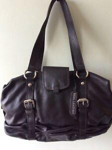 Real Leather Las Dark Brown Underarm