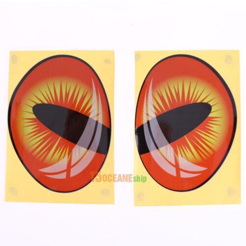 2pcs//set Lovely Reflective 3D Cat Eyes Rear View Mirror Side//Rear Window Sticker